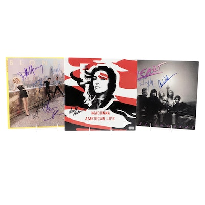 Madonna, Blondie and Heart Signed Vinyl LP Records