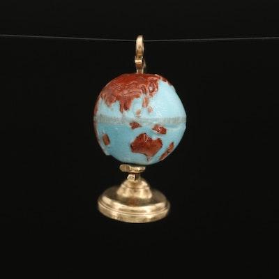 14K Articulated Globe Pendant