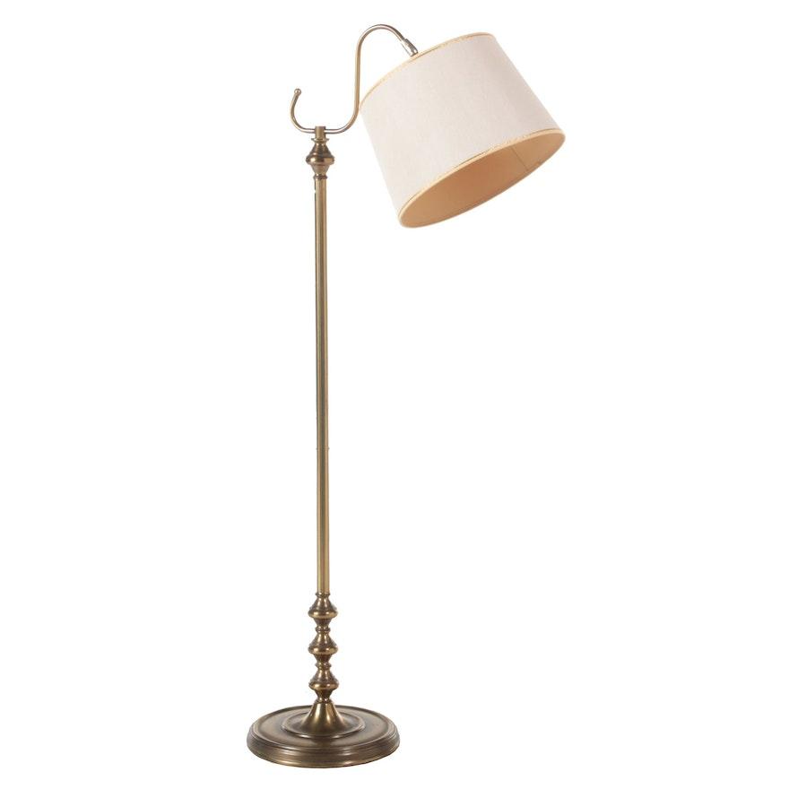 National Lighting and Equipment Co. Brass Bridge Arm Floor Lamp