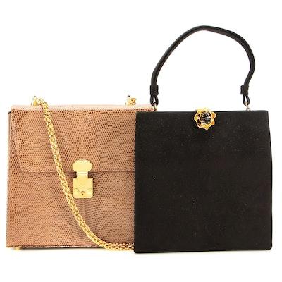 Prestige Top Handle Bag Black and Maxima Snakeskin Bag