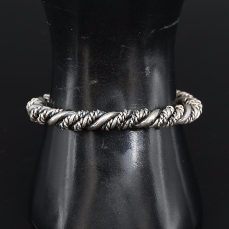 Sterling Silver Multi Twist Cuff