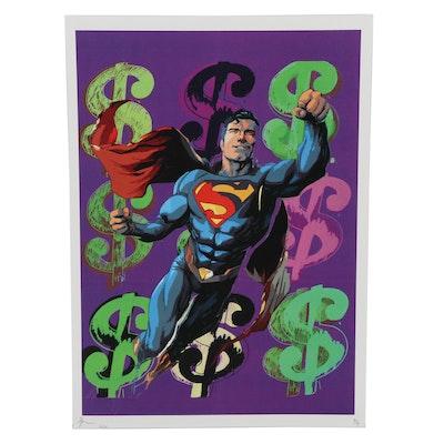 Death NYC Pop Art Graphic Print of Superman, 2020