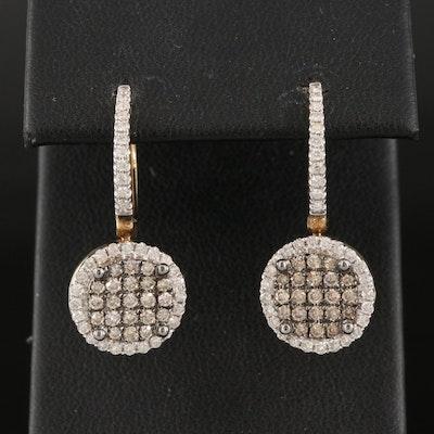14K 1.02 CTW Diamond Circular Drop Earrings