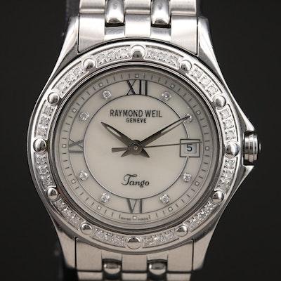 Raymond Weil Tango Diamond MOP Dial and Bezel Stainless Steel Wristwatch