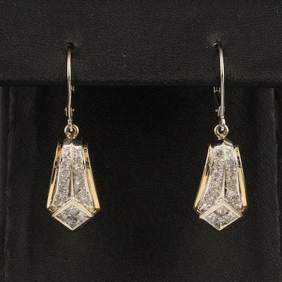 18K 1.76 CTW Diamond Earrings