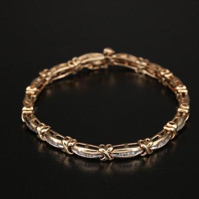 10K 1.00 CTW Diamond Bracelet
