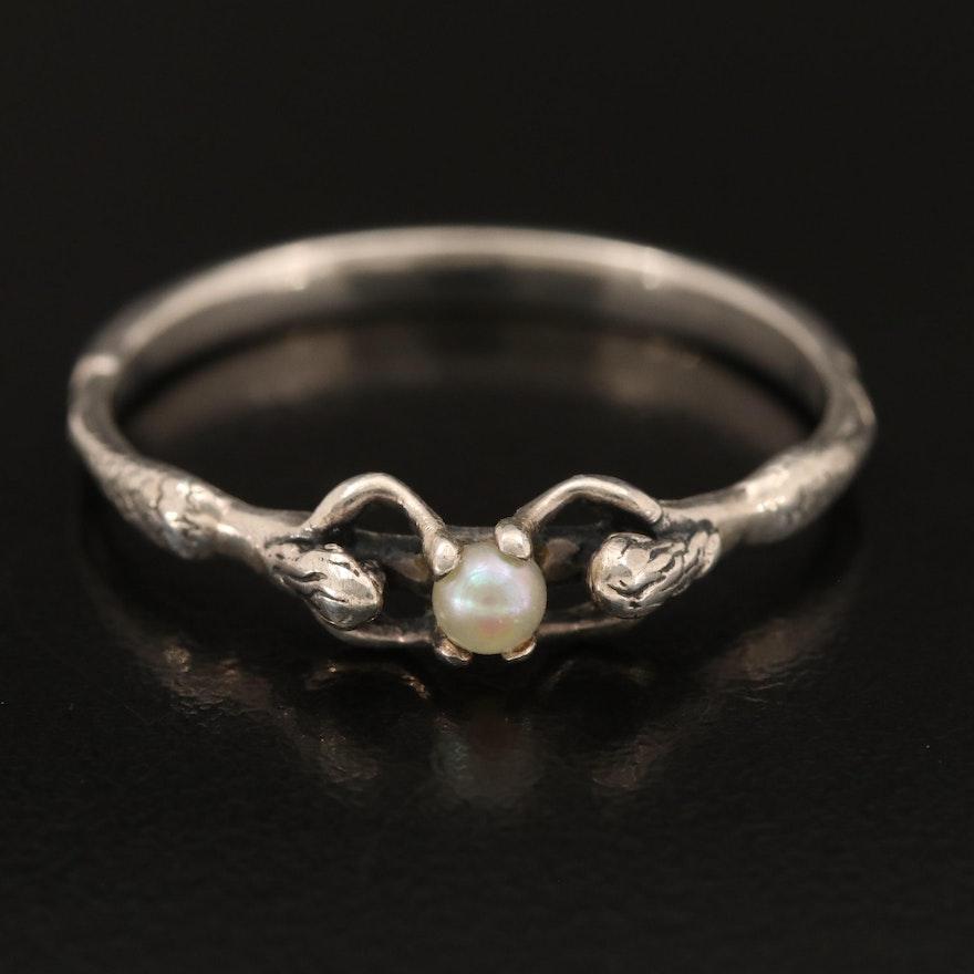 Sterling Pearl Mermaids Ring