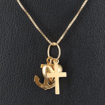 14K Faith, Hope, and Love Necklace
