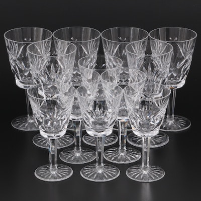 """Waterford Crystal """"Ashling"""" Water Goblets and Claret Wine Glasses"""