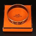"""Hermès Enamel Wide """"Fleurs et Raisins"""" Bangle with Box"""