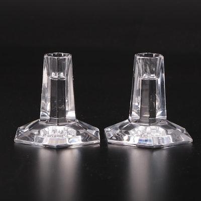 """Riedel for Tiffany & Co. """"Frank Lloyd Wright"""" Crystal Candlesticks"""