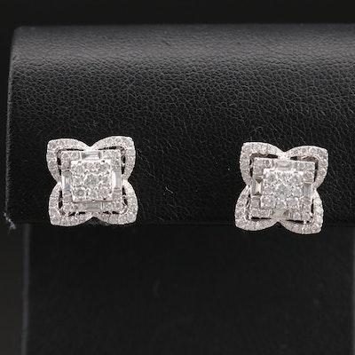 14K 1.16 CTW Diamond Earrings