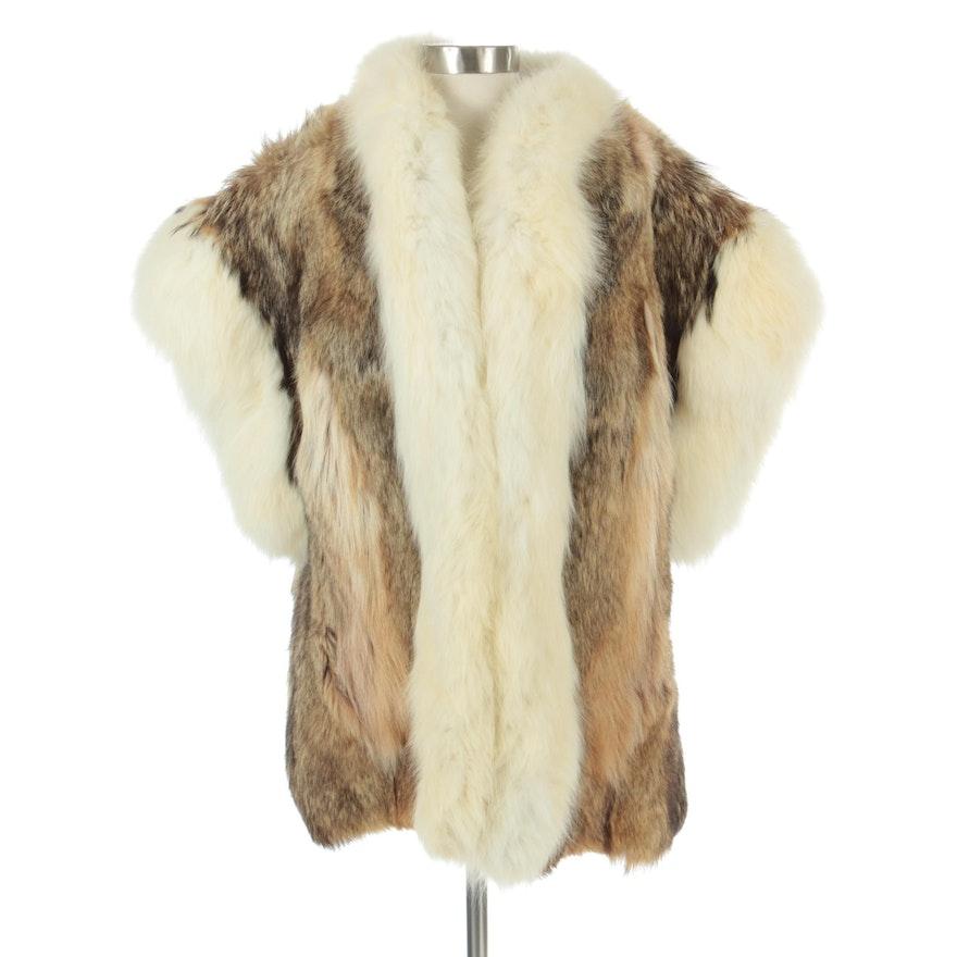 Coyote Fur Vest with Fox Fur Trim