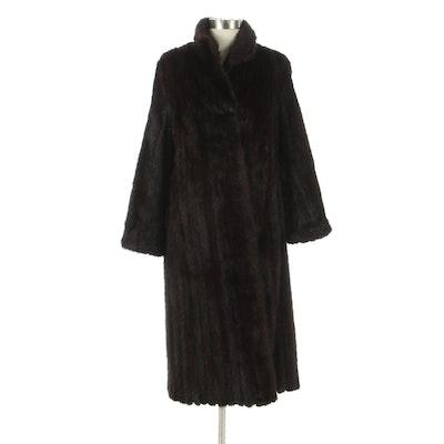 Mahogany Brown Mink Fur Coat