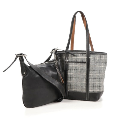 Coach Shoulder and Cross Body Bags in Leather and Wool Tweed