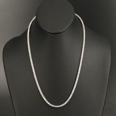 14K 15.98 CTW Diamond Rivière Necklace