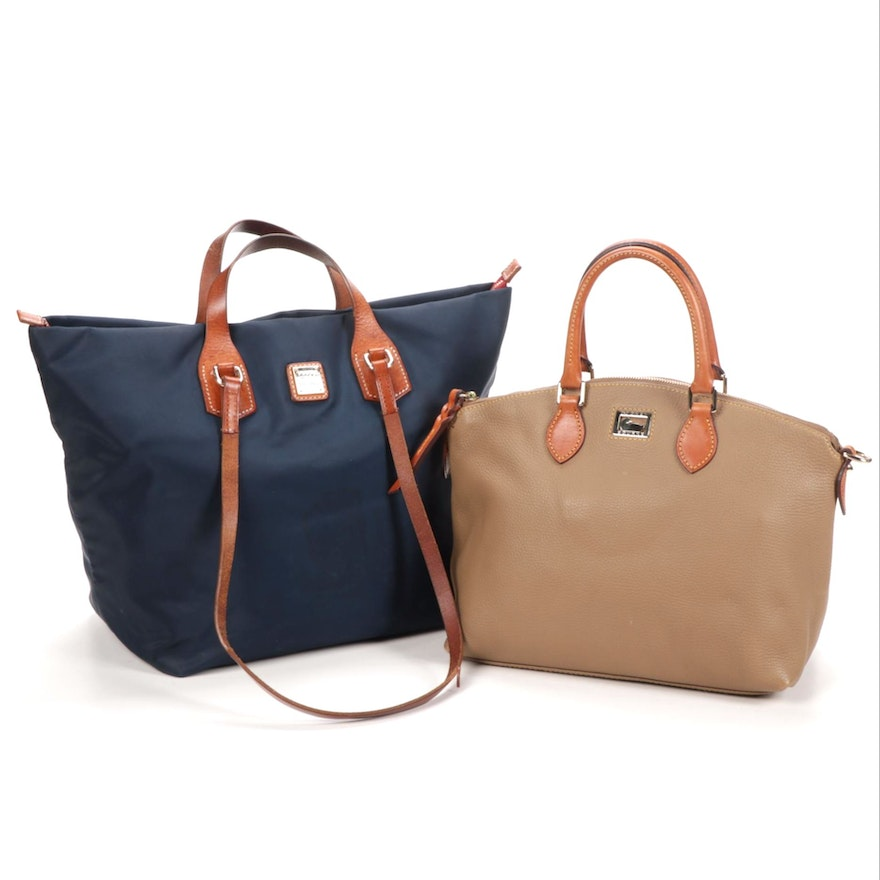 Dooney & Bourke Pebbled Leather Crossbody Bag with Nylon and Leather Tote
