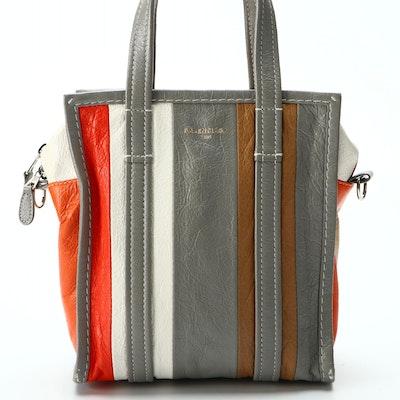 Balenciaga XS Bazar Shopper Tote in Multicolored Leather
