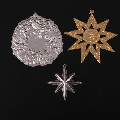 Towle, Reed & Barton and Metropolitan Museum of Art Sterling Silver Ornaments