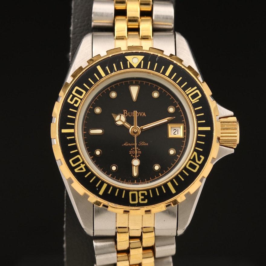 Bulova Marine Star Two-Tone Stainless Steel Quartz Wristwatch