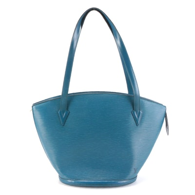 Louis Vuitton Saint Jacques GM in Toledo Blue Epi and Smooth Leather