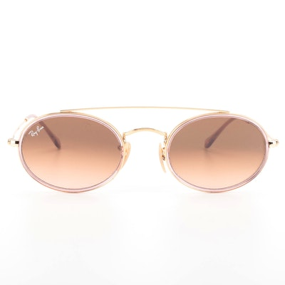 Ray-Ban RB 3847-N Oval Double Bridge Sunglasses with Case and Box