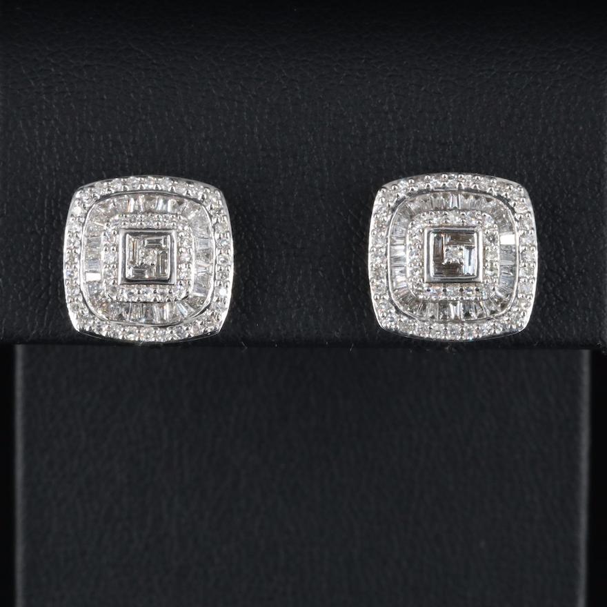 14K 1.18 CTW Diamond Multi Halo Earrings