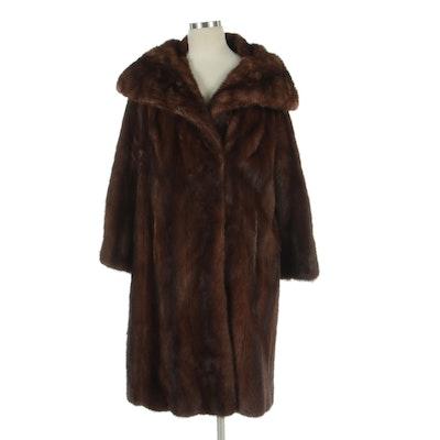 Demi Buff Mink Fur Stoller Coat by Gillelman's Sons