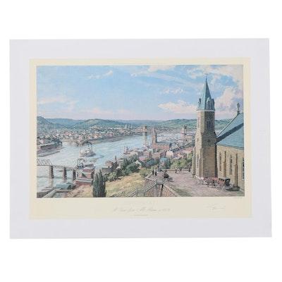 """John Stobart Giclée """"Cincinnati A View From Mt. Adams c. 1875"""""""