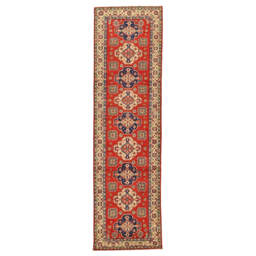 2'10 x 10' Hand-Knotted Afghan Kazak Carpet Runner