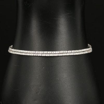 14K 2.50 CTW Diamond Double Row Bracelet