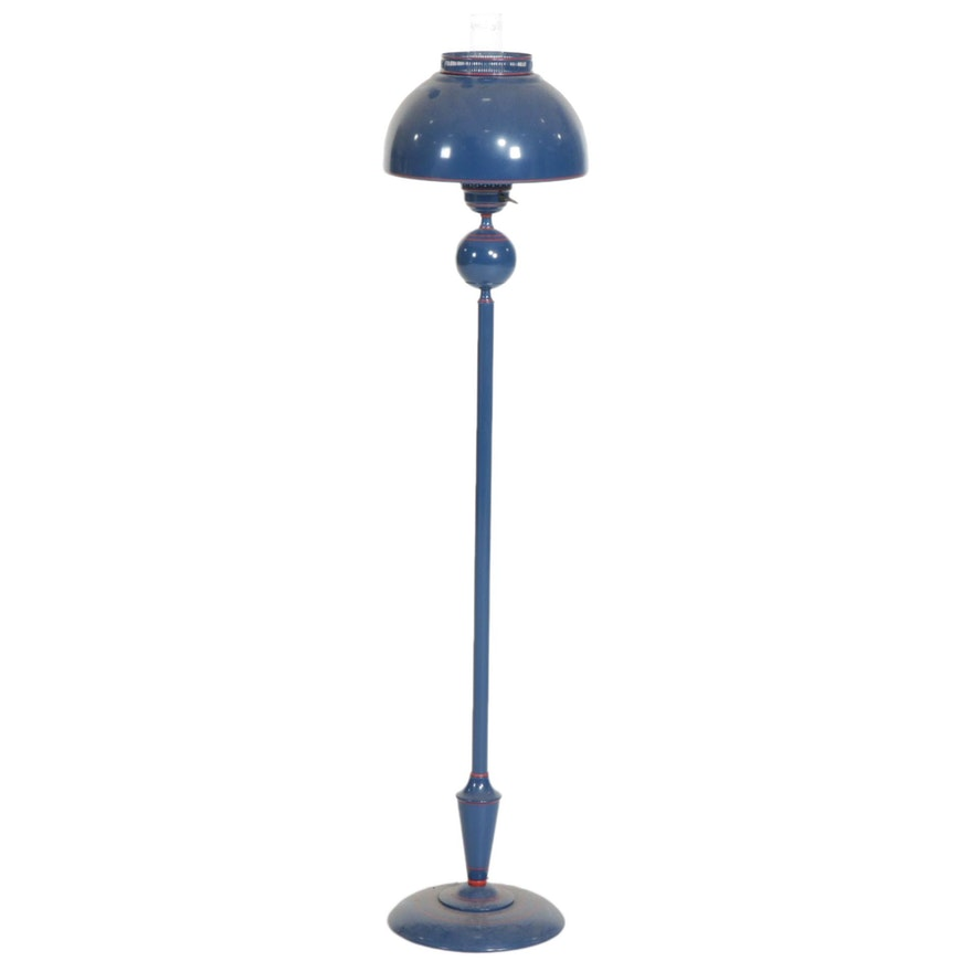 Blue Tole Metal Hurricane Floor Lamp