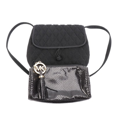 MICHAEL Michael Kors Accessory Pouch with Vera Bradley Quilted Shoulder Bag
