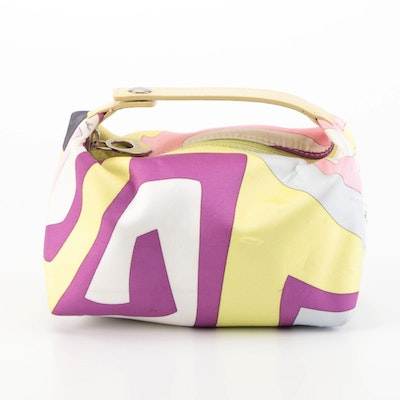 Emilio Pucci Cosmetic Pouch in Abstract Neon Print