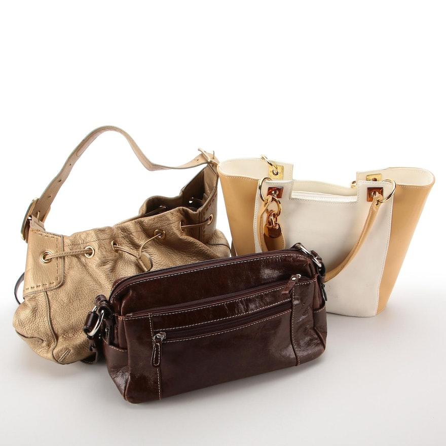 Cole Haan, Giani Bernini, and Focus Paris Leather Handbags