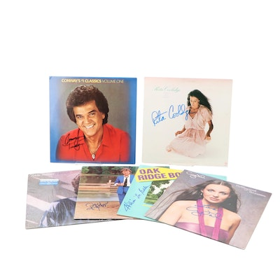 Ricky Skaggs, Crystal Gayle, Eddie Rabbitt and Other Signed Country Records
