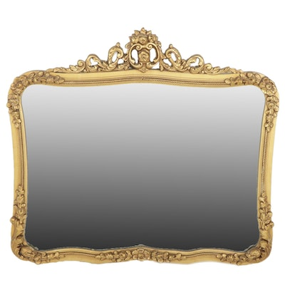 Victorian Style Giltwood Wall Mirror, Early to Mid 20th Century