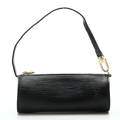 Louis Vuitton Mini Papillion Bag in Black Epi Leather