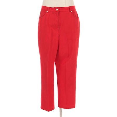 St. John Sport by Marie Gray Red Five-Pocket Jeans