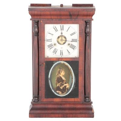 Victorian Seth Thomas Portrait Ogee Mantel Clock, Mid to Late 19th Century
