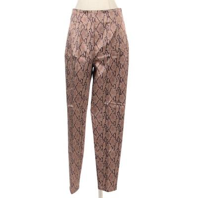 Snake Print Tapered Pants