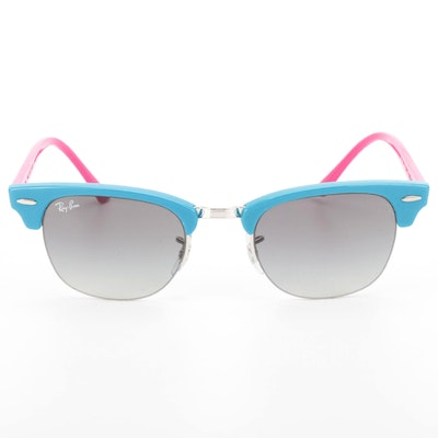 Ray-Ban RB4354 Clubmaster Classic in Turquoise and Magenta with Case and Box
