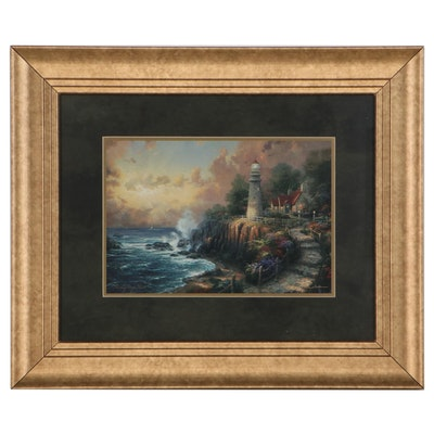 """Offset Lithograph After Thomas Kinkade """"The Light of Peace"""""""