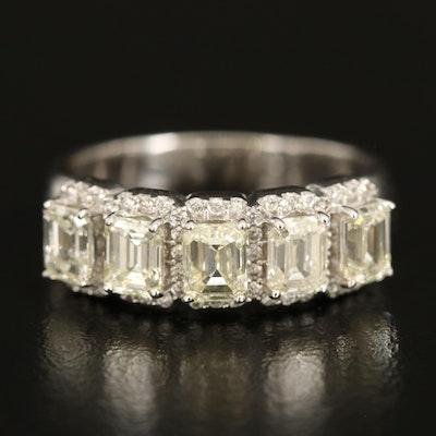 14K 1.80 CTW Diamond Ring with 0.23 CTW Diamond Halos