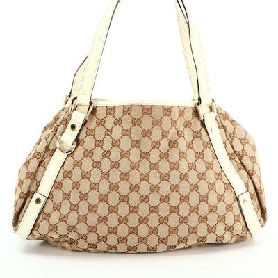 Gucci Pelham GG Canvas and Leather Shoulder Bag