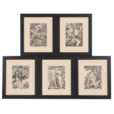 "Steele Savage Woodcut Illustrations for Giovanni Boccaccio's ""The Decameron"""