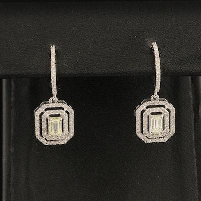 14K 1.52 CTW Diamond Latch Back Earrings
