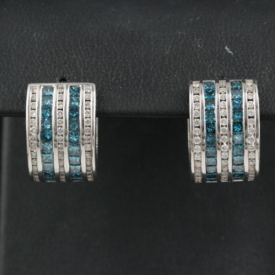 14K 2.21 CTW Diamond Hoop Earrings