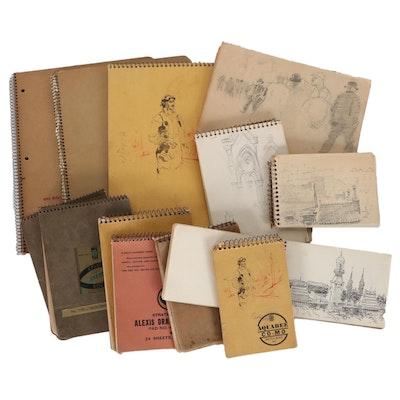 Edmond J. Fitzgerald Sketchbooks and Notebooks, Mid-20th Century