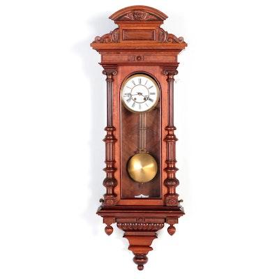 Alt Deutsch Vienna Regulatory Style Walnut Clock, Late 19th Century